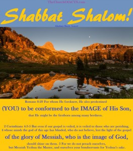 Be The Image of Messiah Who IS The Image of God