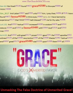 Unmasking The Doctrine Of Unmerited Grace!
