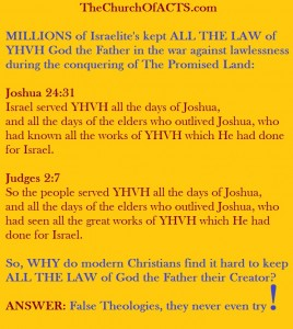 Millions KEEP THE LAW With Joshua, Conquer Promised Land!