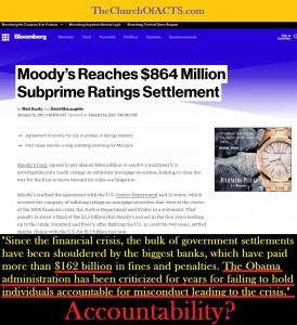 Moody's Rating Agency Fined, Banks Fined 162 BILLION!!!
