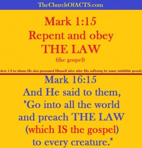 Infallible Proof: THE LAW = The Gospel