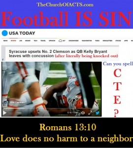 Football Is SIN – Do No HARM!