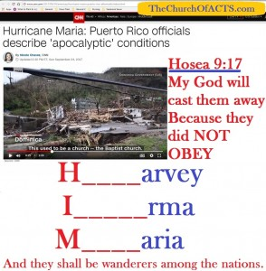 Harvey, Irma, Maria – Repent And Obey HIM