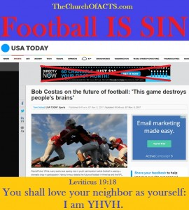 Bob Costas Teaches Pastors Football Is SIN!