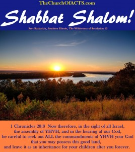 Shabbat Shalom – Keep ALL His Commandments!