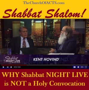 """Shabbat NIGHT LIVE"" NOT A HOLY Convocation!!!"