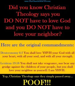 Christian Theology Say You Do NOT Have To Love God!