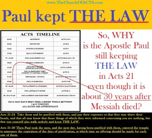 Paul Kept THE LAW of YHVH God All His Life!
