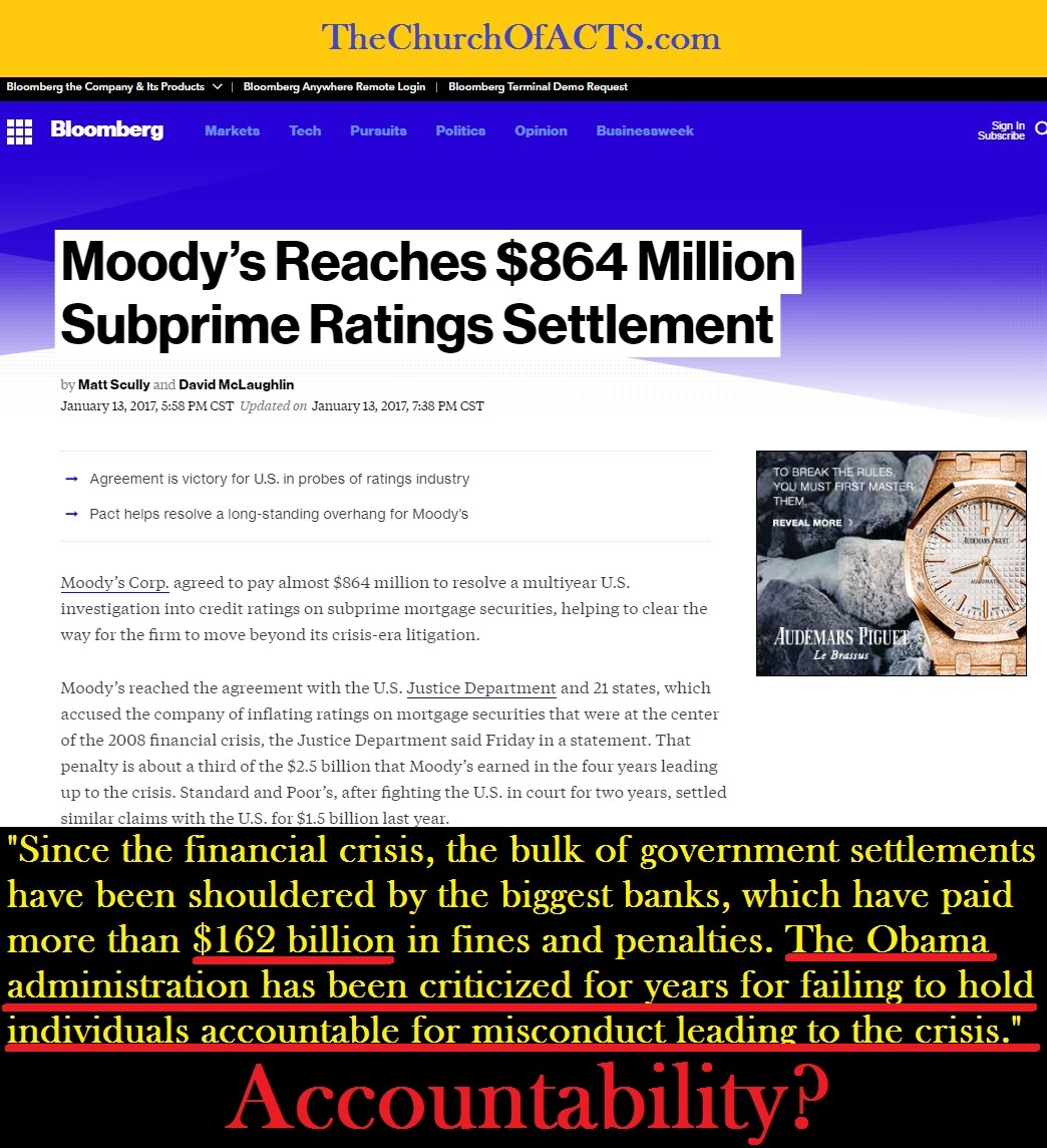 Moodys Rating Agency Fined Banks Fined 162 Billion