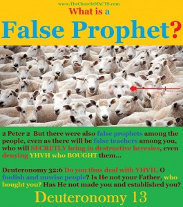 False Prophets In The Messianic Community