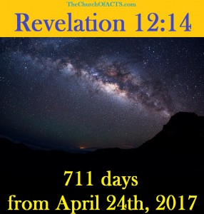 Revelation 12:14 – Just Mere Days Away!