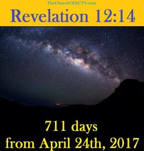 Revelation 12:14 – Just Mere Days Away!