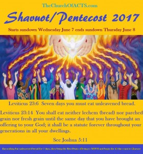 Shavuot 2017 Begins Sundown Wednesday June 7