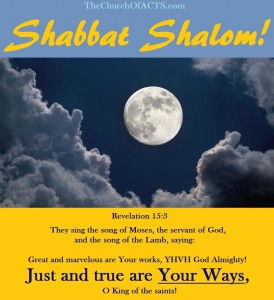 Shabbat Shalom!  Revelation 15 The Song Of Moses