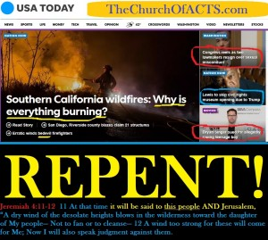Southern California Burning – REPENT!!!