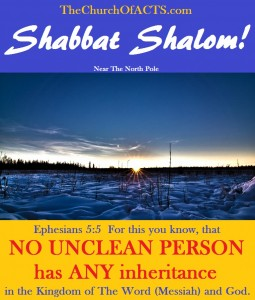 Shabbat Shalom!  Modern Christianity Is A Cult Fraud